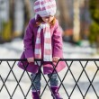 Young girl walking in the park — Stock Photo