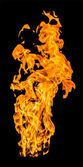 火災炎高を上げる — ストック写真