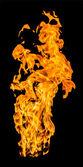 提高高火火焰 — 图库照片