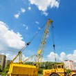 Mobile caterpillar crane — Stock Photo