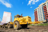 Wheel machinery on construction site — Stock Photo