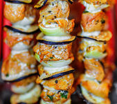 Home shish kebab — 图库照片