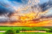 Sunset on the plain — Photo