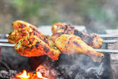 Chicken shashlik — Stock Photo