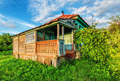 Russian rural house — Stock Photo