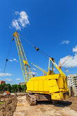 Caterpillar crane — Stock Photo