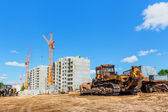 Machinery on construction site — Stock Photo