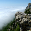 Haze around the crag — Stock Photo
