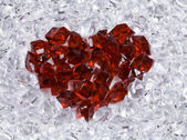 Crystal ice heart abstract background — Stock fotografie