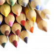 Colour pencils on white background close up — Stock Photo