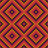 Pixel modern geometric seamless pattern ornament background — Stock Vector