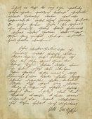 Old letter with vintage handwriting. Grunge. — Stock Photo
