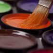 Colored paints. Watercolors - Stock Photo