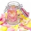 Royalty-Free Stock Photo: Aromatic rose water and petals
