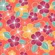 Abstract seamless floral pattern. Colorful vector illustration — Stock Vector