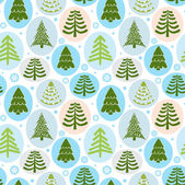 Background Christmas trees, vector illustration — Stock Vector