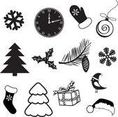 Zestaw tematów świąteczne i ozdoby — Wektor stockowy