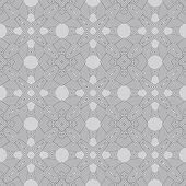 Decorative modern geometric seamless pattern — Stock Vector