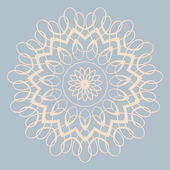 Contemporary doily round lace floral pattern — Stock Vector