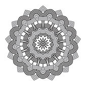 Contemporary doily round lace floral pattern — Vector de stock