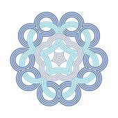 Keltische Knoten-Muster-Card, Mandala, Amulett — Vecteur