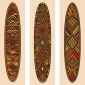 Indian ethnic idol wall wood amulet — Stock Vector