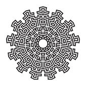 Celtic knot pattern card, mandala, amulet — Stock Vector