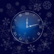 Christmas wall clock background — Stock Vector #7588272
