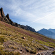 Stock Photo: Mountains landscape, sunset in Corsica
