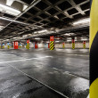 Parking garage underground interior - Stock Photo