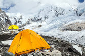 Tenda e acampamento base do everest — Foto Stock