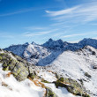 Mountains landscape, sunny day in Tatras — Foto Stock