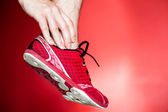 Running injury, leg and ankle pain — Stock Photo