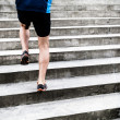 Mrunning on stairs, sports training — Stock Photo #27115833