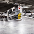 Stock Photo: Parking garage interior and cars