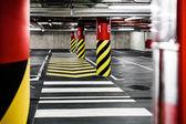 Parking garage underground interior — Foto Stock
