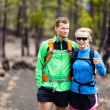Couple hiking in forest — Stock Photo #29995657