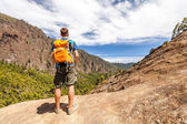 Hiker or runner in mountains — Stock Photo