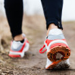 Walking or running legs sport shoes — Stock Photo