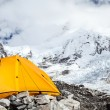 Everest Base Camp and tent — Foto Stock