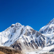 Himalaya mountain peaks autumn landscape — Stock Photo