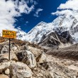 Stock Photo: Mount Everest signpost