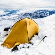 Camping in Caucasus Mountains on Elbrus landscape — Stock Photo #36665261