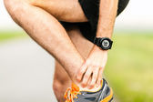 Runners knee pain injury — Stock Photo
