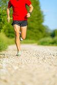 Man cross country trail running — Stock Photo
