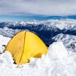 Camping in Caucasus Mountains on Elbrus landscape — Stock Photo #48516503