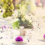 Wedding decoration table — Foto de Stock