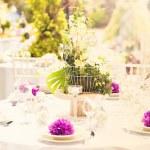 Tabla de la decoración de la boda — Foto de Stock   #48764167