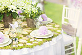 Wedding decoration table — Stock Photo