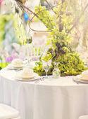 Wedding decoration table — Photo